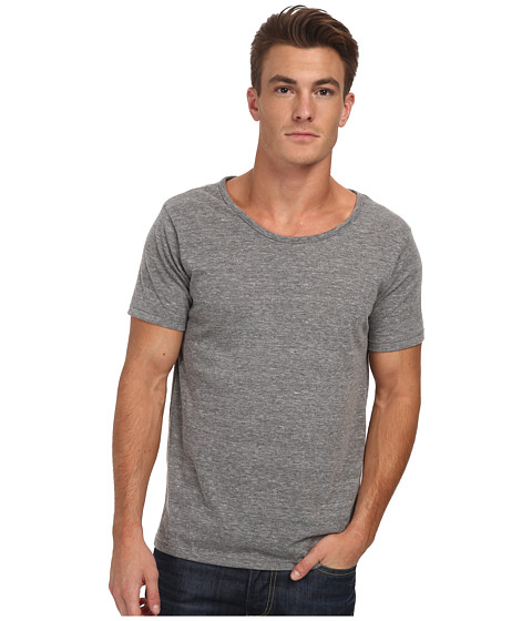 Alternative - Open Neck Tee (Eco Grey) Men's T Shirt