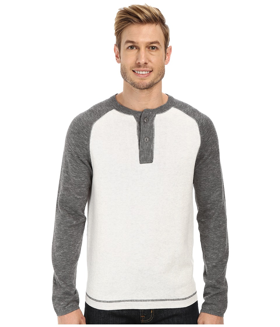 Agave Denim - Surfers Point Long Sleeve Fine Gauge Henly (Heather Gray) Men's Long Sleeve Pullover