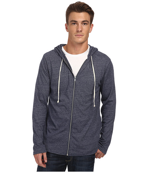 Alternative - Mock Twist Zip Hoodie (Eco Mock Midnight) Men