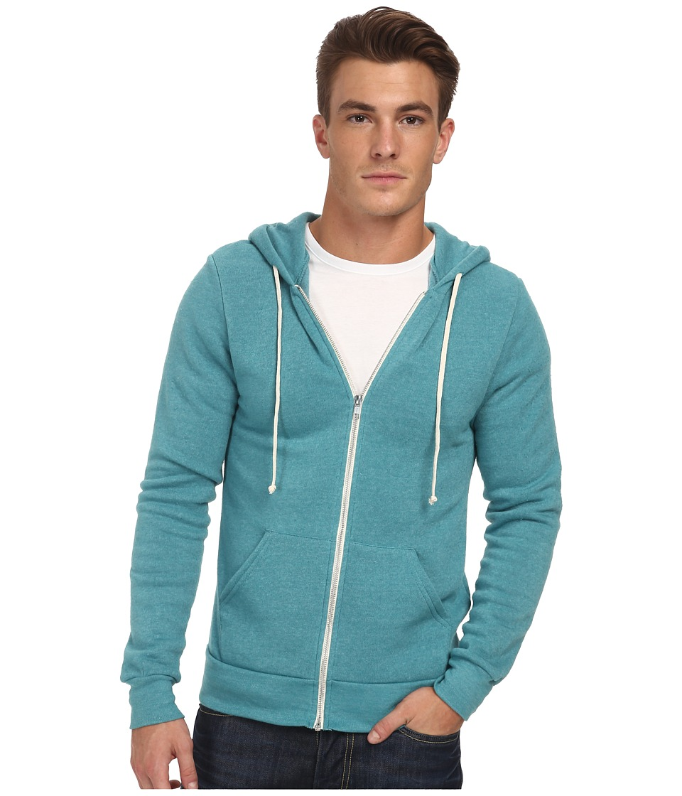 Alternative - Rocky Zip Hoodie (Eco True Sea Green) Men's Sweatshirt