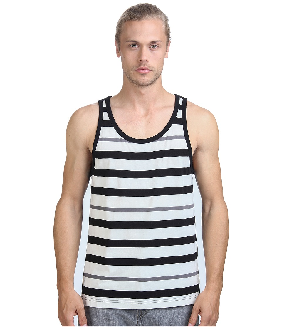 Alternative - Cotton Modal Stripe Tank Top (Black Stripe) Men's Sleeveless