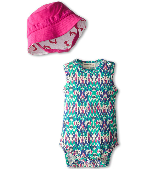 Appaman Kids - One-Piece and Mini Sun Hat Set (Infant) (Ikat) Girl's Active Sets