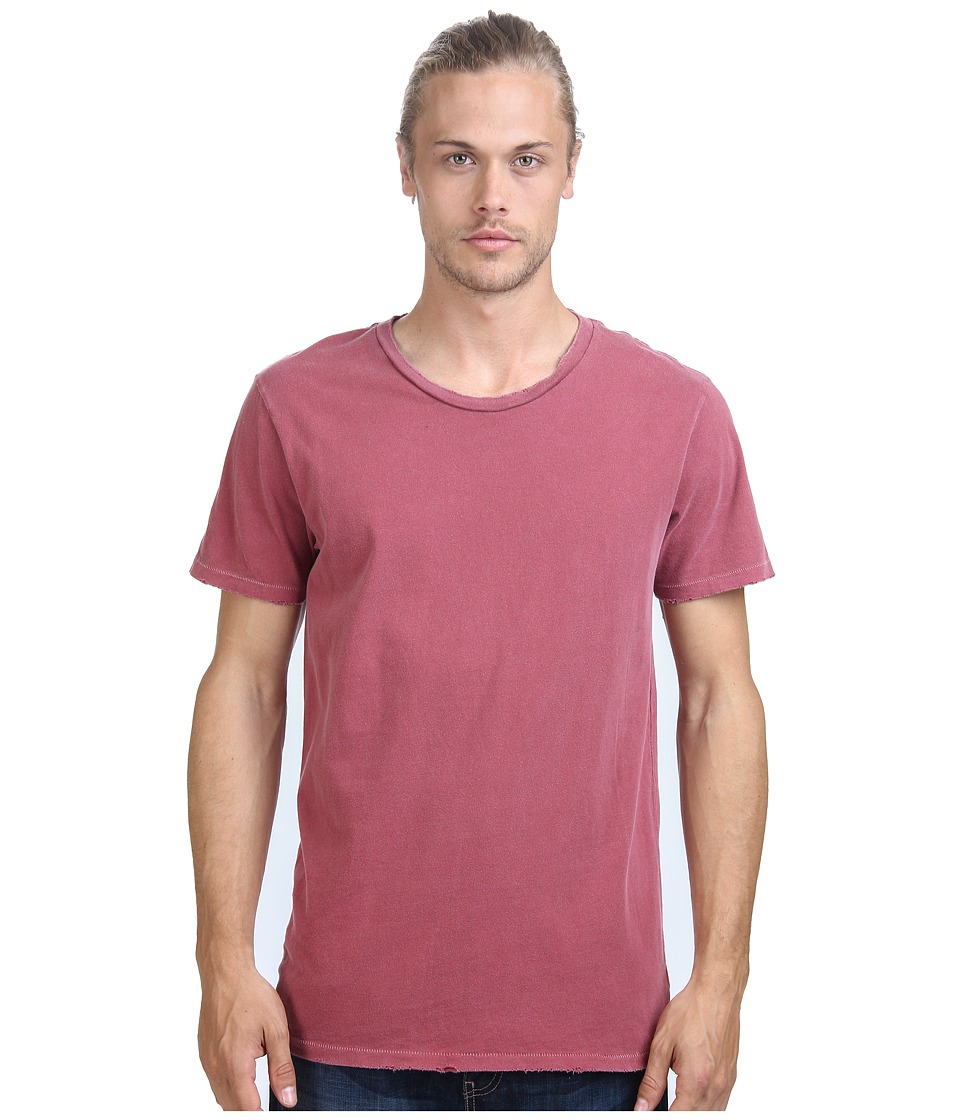 Alternative - Distressed Heritage Tee (Red Pigment) Men's T Shirt