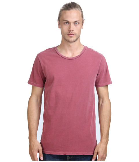 Alternative - Distressed Heritage Tee (Red Pigment) Men