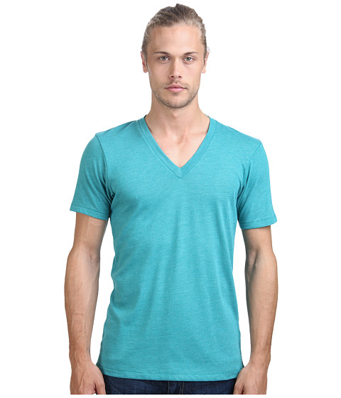 Alternative - Boss V-Neck Tee (Eco True Sea Green) Men's Short Sleeve Pullover