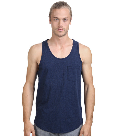 Alternative - Perfect Pocket Tank Top (Midnight Heather) Men's Sleeveless
