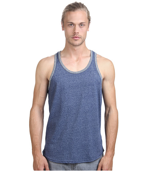 Alternative - Mock Twist Ringer Tank Top (Eco Mock Midnight) Men's Sleeveless