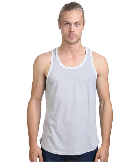 Alternative - Mock Twist Ringer Tank Top (Eco Mock Nickel) Men's Sleeveless