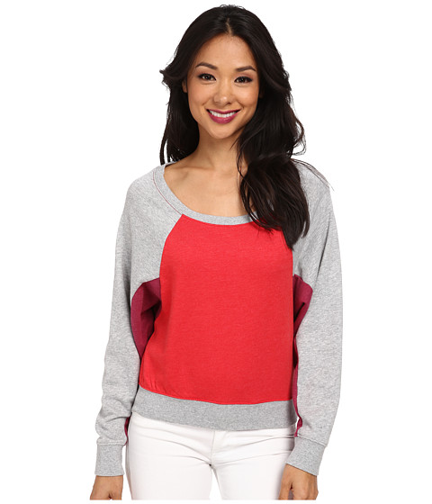 Alternative - Light French Terry Dolman Crew Neck (Tomato) Women's Sweatshirt