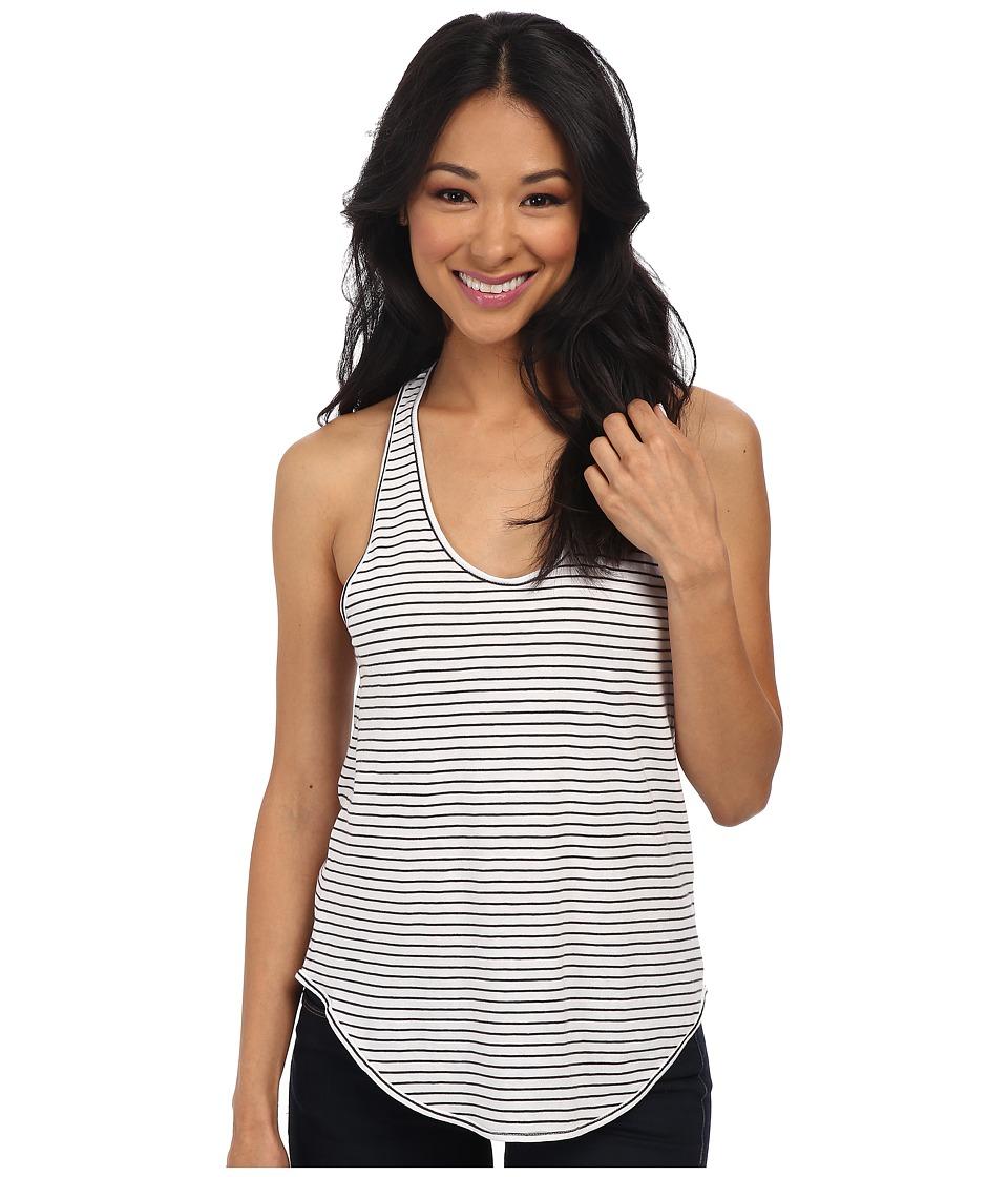Alternative - Perfect Shirttail Tank Top (White London Stripe) Women