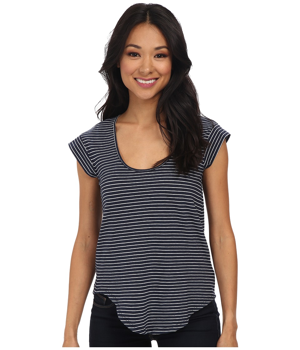 Alternative - Perfect Cap Sleeve (Midnight London Stripe) Women's Clothing