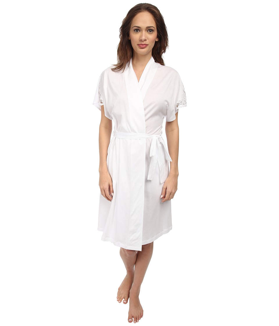 Hanro - Roma Robe (White) Women's Robe