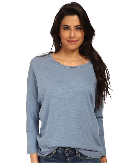 Alternative - Slub Dolman Top (Steel Blue) Women's Clothing