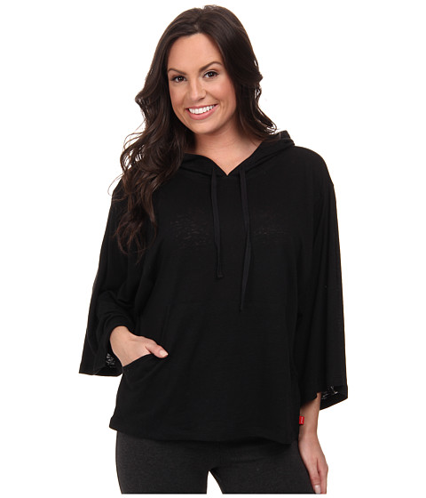 Josie - Linen Instincts Hooded Top (Black) Women's Pajama