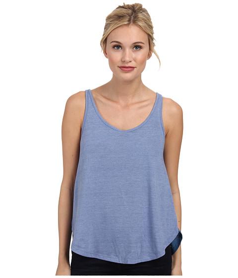 Alternative - Eco Jersey Slit Tank Top (Eco True Dusk Blue) Women's Sleeveless