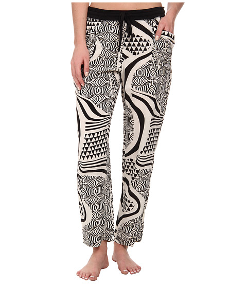 Josie - Woodcut Item Pants (Black) Women's Pajama