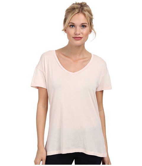 Alternative - Perfect V-Neck T-Shirt (Vintage Blush Pink) Women's Short Sleeve Pullover