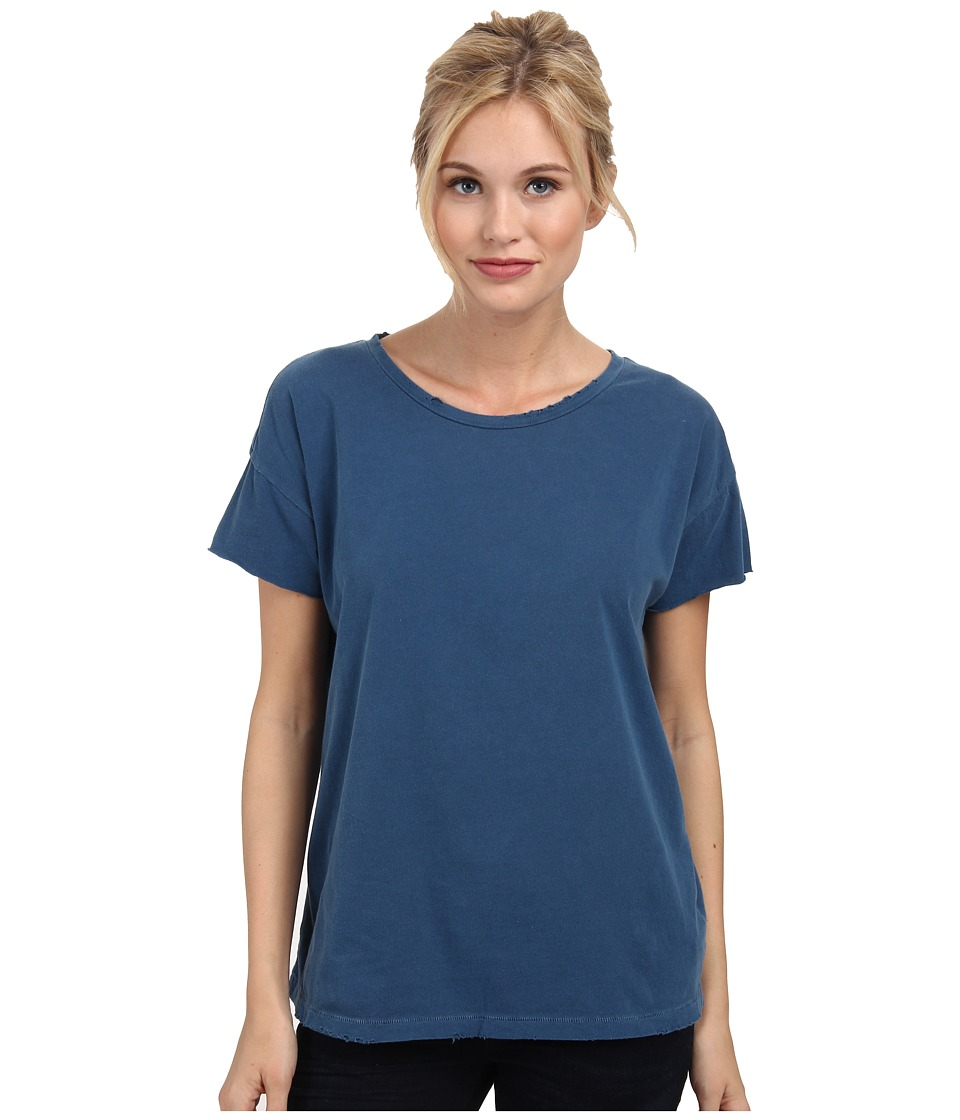 Alternative - Distressed Rocker Tee (Steel Blue) Women