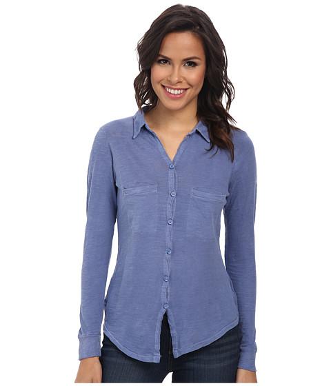 Alternative - Slub Everyday Button Up Shirt (Dusk Blue) Women's Long Sleeve Button Up