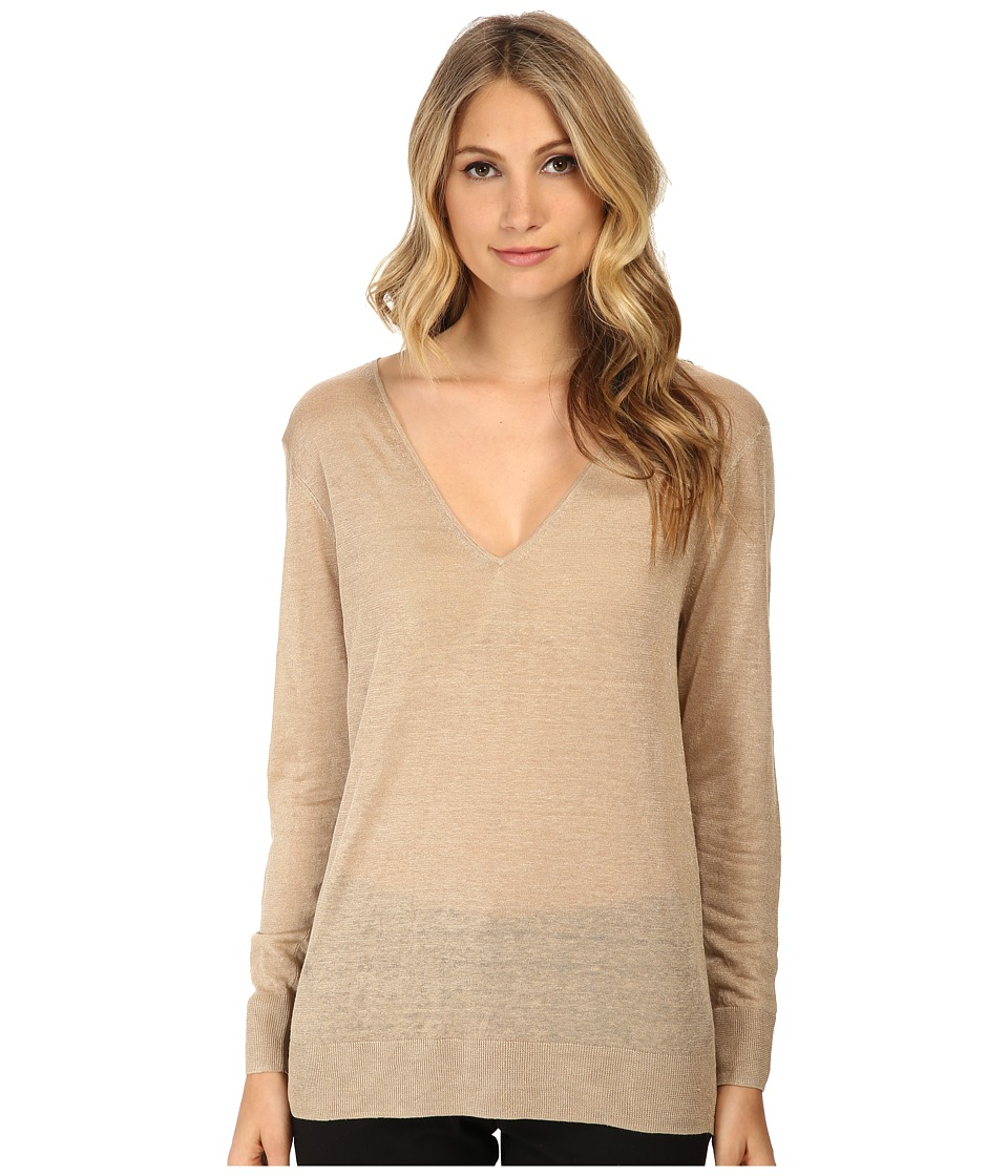 Theory - Wynn A Top (Rustic Beige) Women