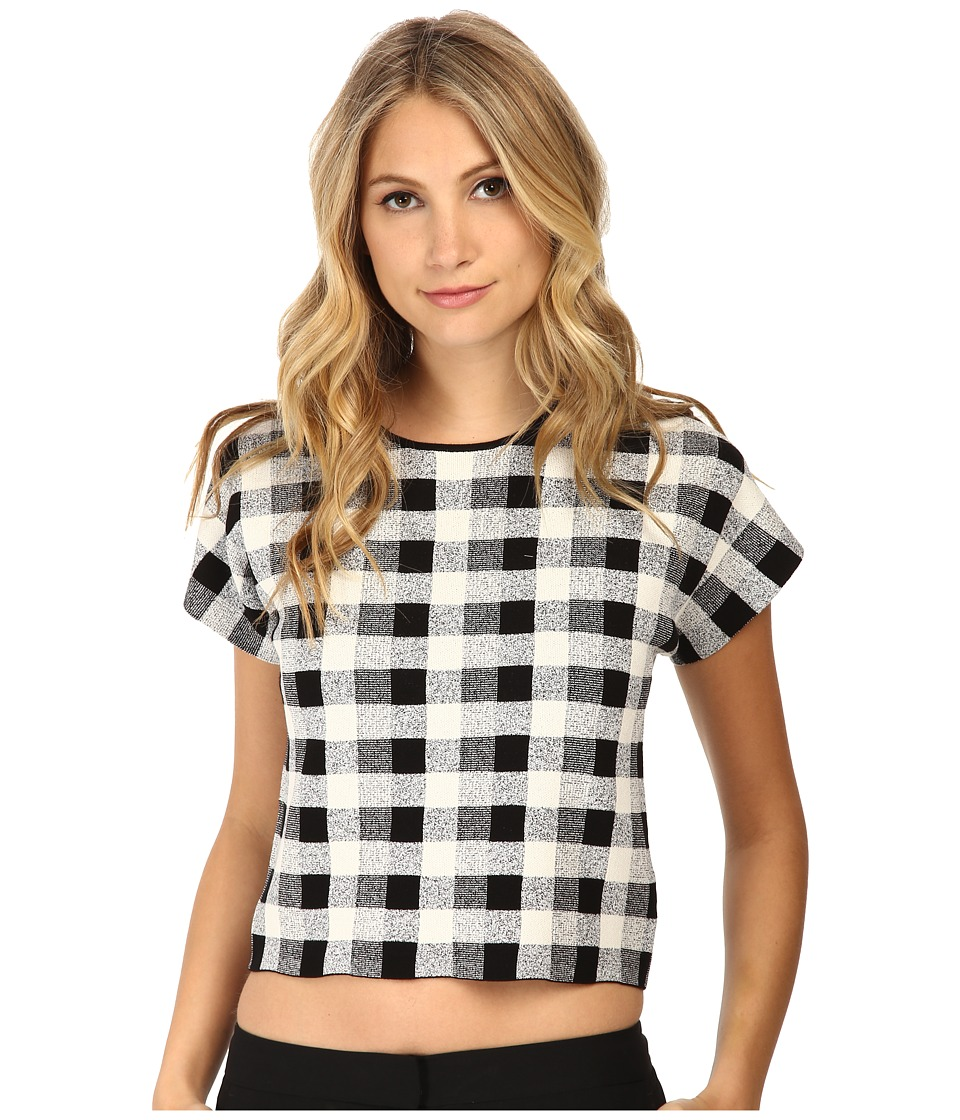 Theory - Seblyn D Top (Black/White) Women's Clothing
