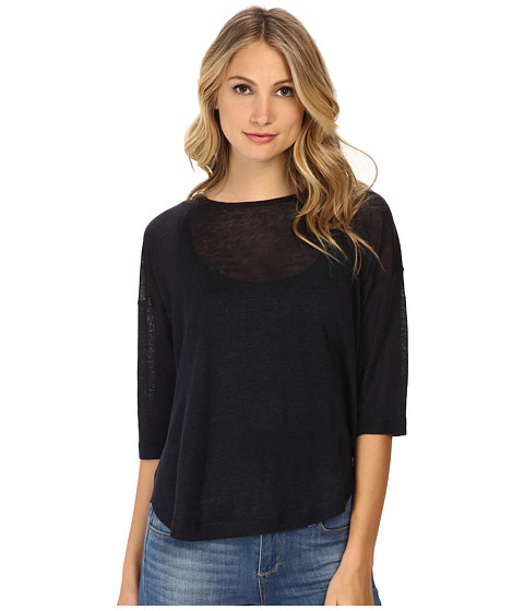 Theory - Beylor C Top (Armada Blue) Women's Clothing