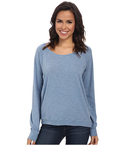 Alternative - Slub Slouchy Pullover (Steel Blue) Women's Long Sleeve Pullover