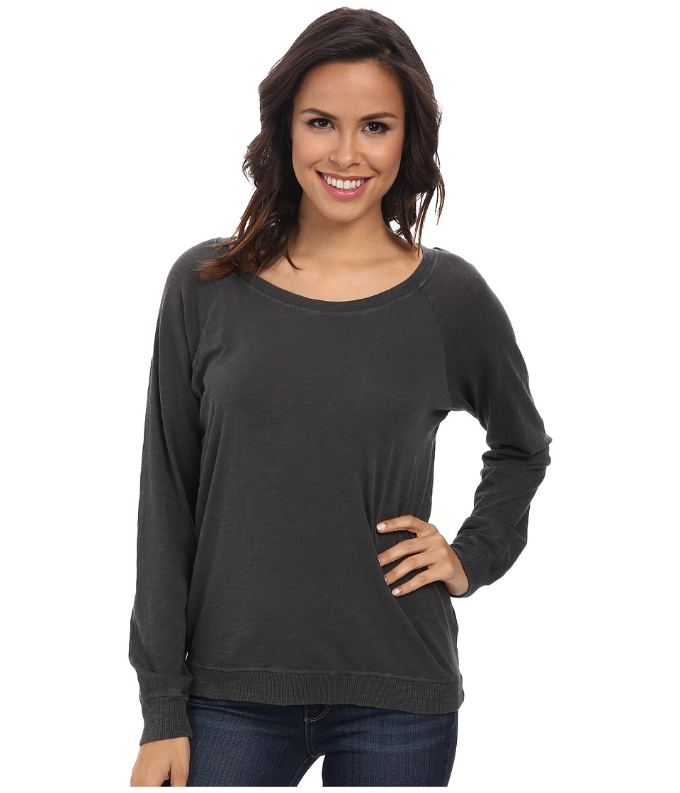 Alternative - Slub Slouchy Pullover (Coal) Women's Long Sleeve Pullover