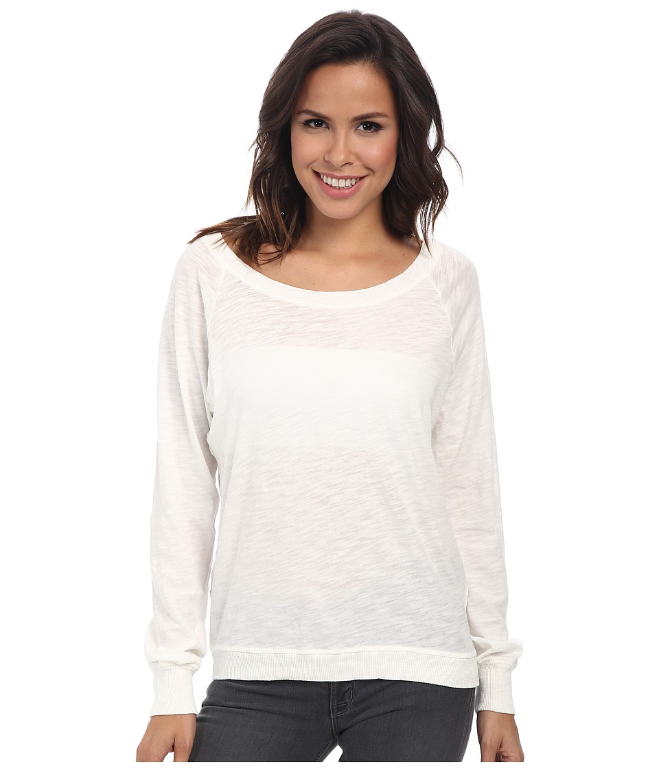Alternative - Slub Slouchy Pullover (Vintage White) Women's Long Sleeve Pullover