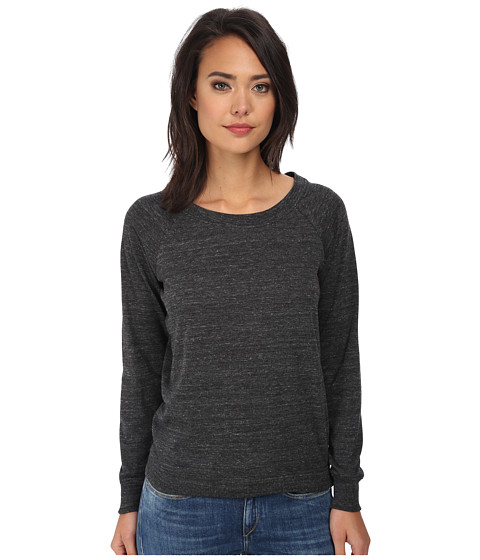 Alternative - Eco Jersey Slouchy Pullover (Eco Black) Women