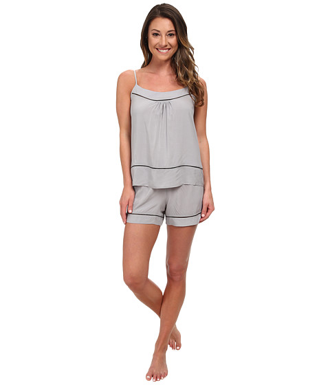 Josie - Woven Chic Short PJ (Pewter) Women's Pajama Sets