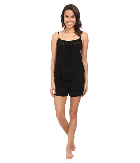 Josie - Woven Chic Short PJ (Black) Women's Pajama Sets