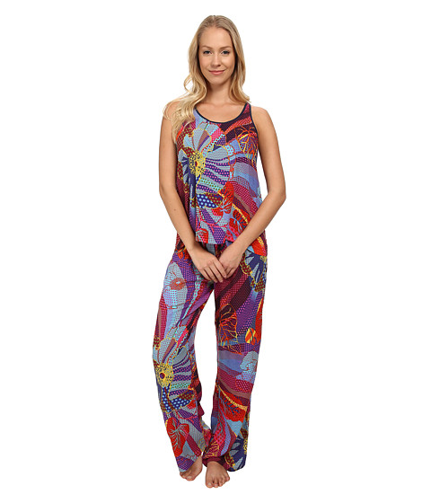Josie - Golden Eye Tank Top PJ (Multi) Women's Pajama Sets