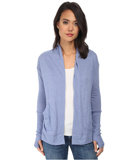 Alternative - Eco Jersey Rib Sleeve Wrap (Eco True Dusk Blue) Women's Sweater