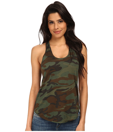 Alternative - Modal Shirttail Tank Top (Camo) Women
