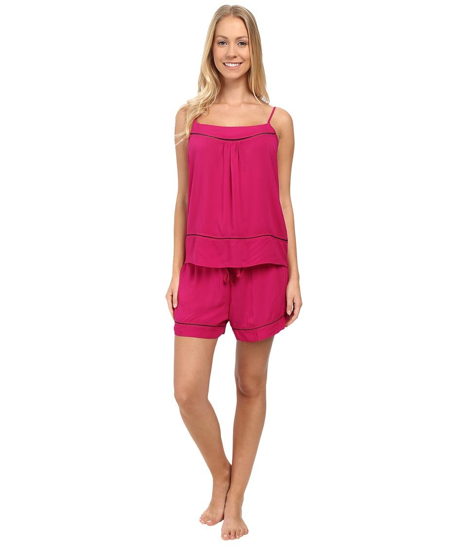 Josie - Woven Chic Short PJ (Hibiscus Pink) Women