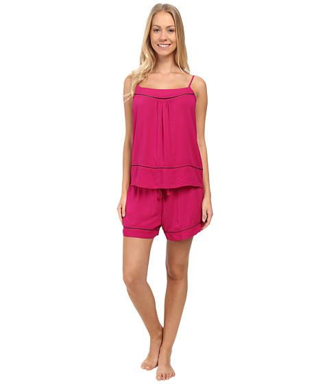 Josie - Woven Chic Short PJ (Hibiscus Pink) Women's Pajama Sets