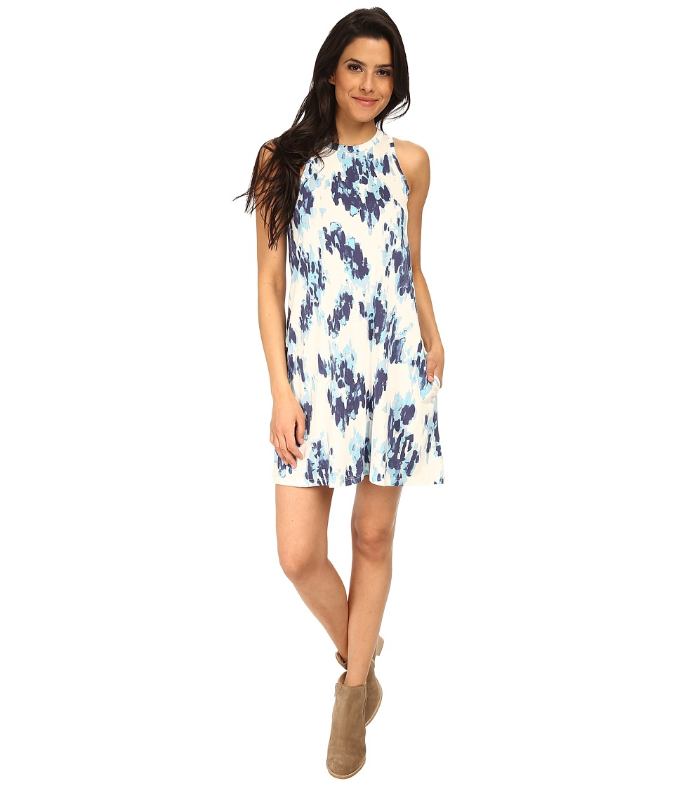 Alternative - Modal Halter Dress (Cambridge Ink Blot) Women's Dress