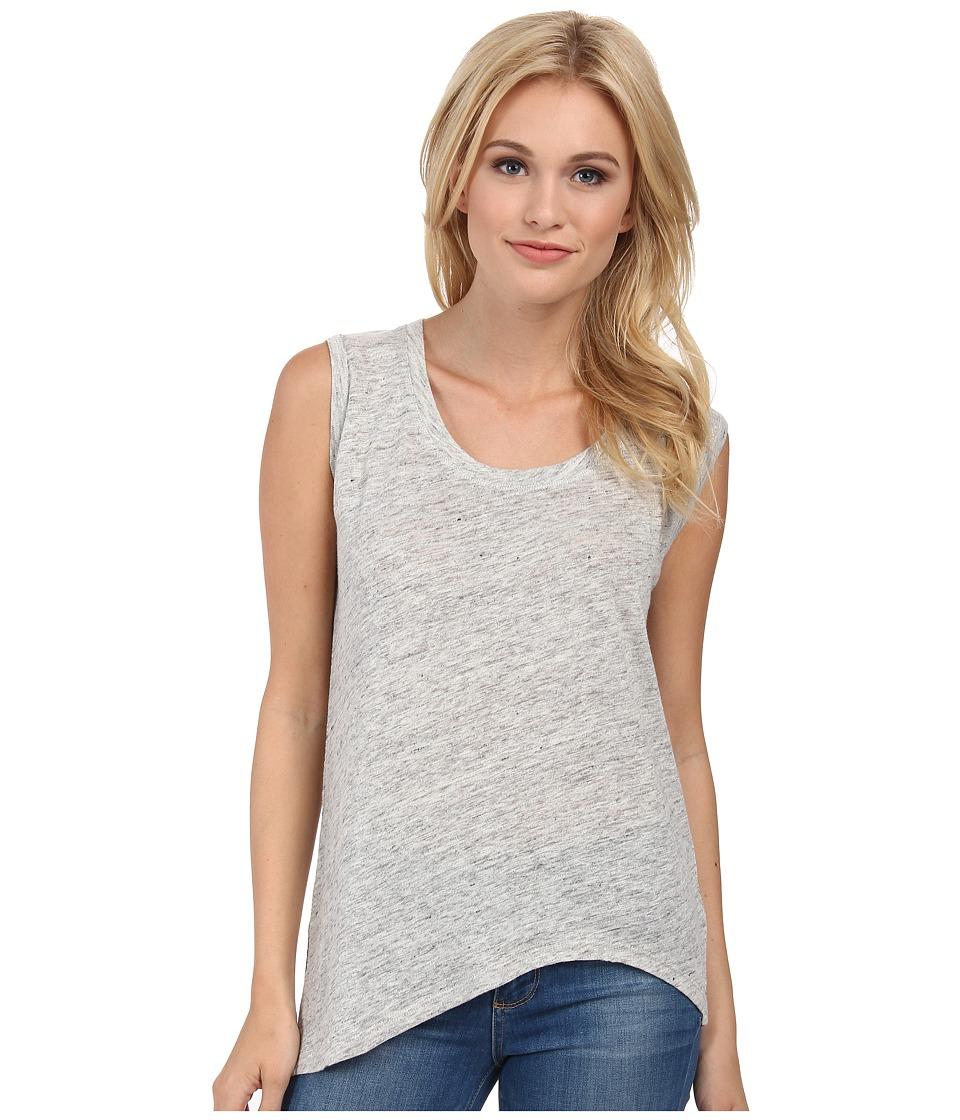 Alternative - Linen Asymmetrical Cap Sleeve (Ash Heather) Women's Sleeveless