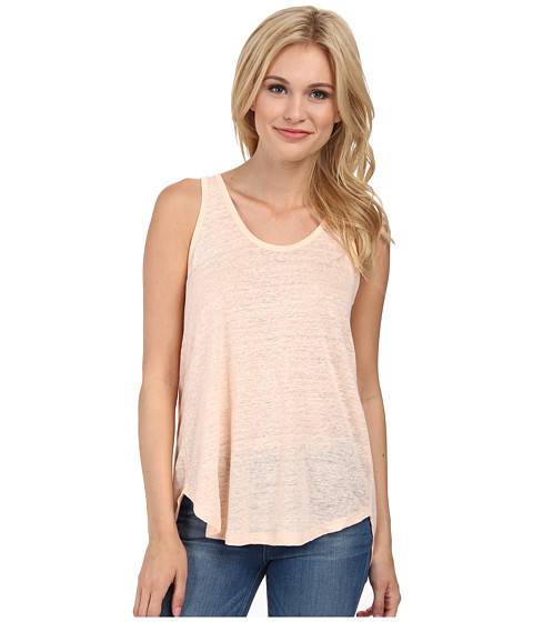 Alternative - Linen Slit Back Tank Top (Blush Pink) Women's Sleeveless
