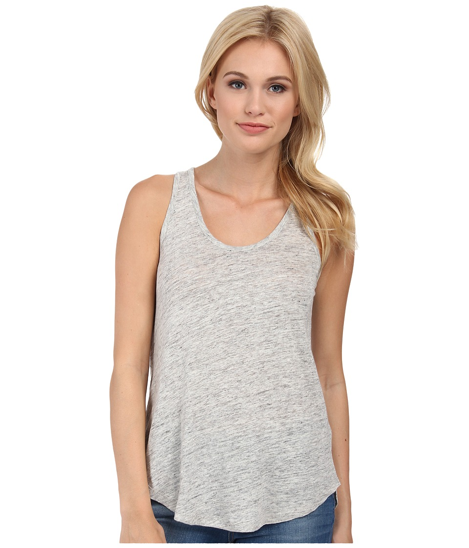 Alternative - Linen Slit Back Tank Top (Ash Heather) Women's Sleeveless