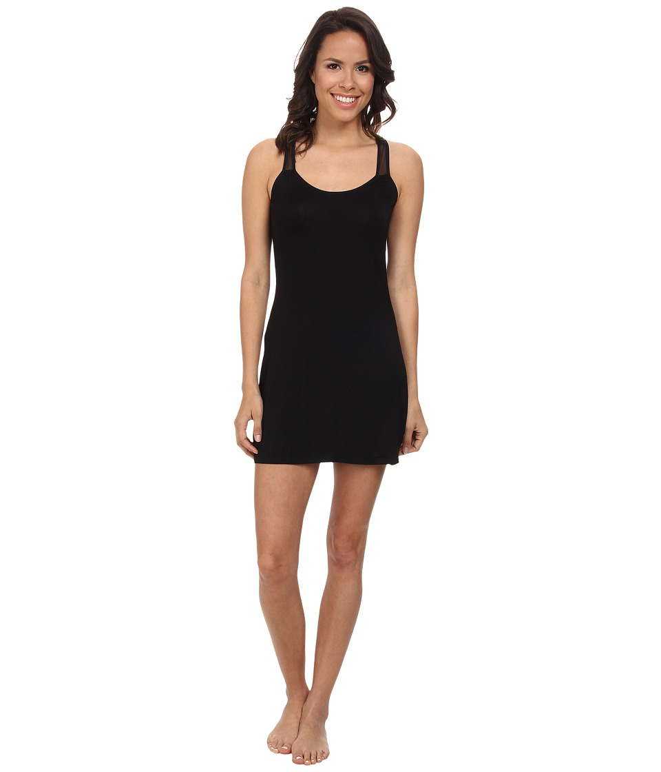 Josie - Downtown Lounge Chemise (Black) Women