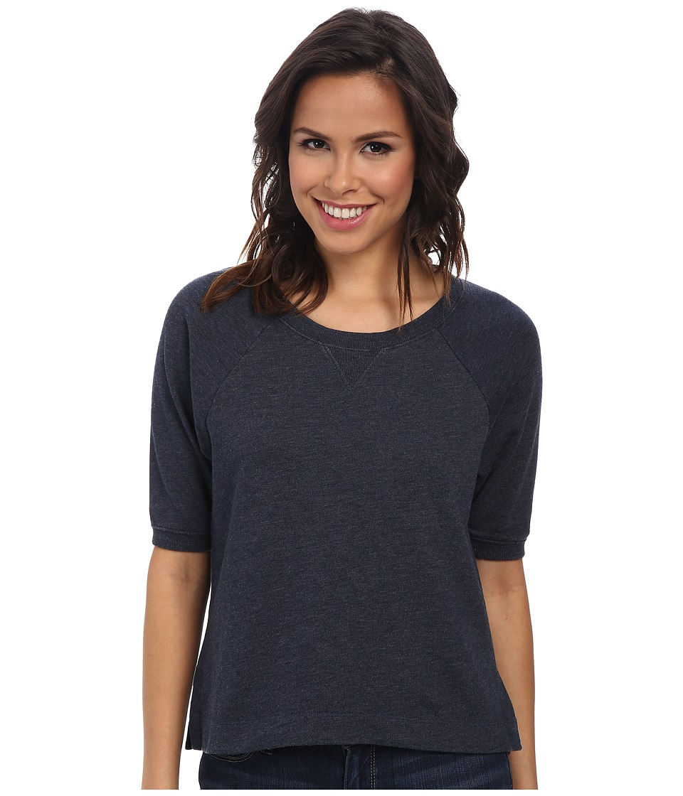 Alternative - Light French Terry Crew Neck Short Sleeve (Midnight Wash) Women