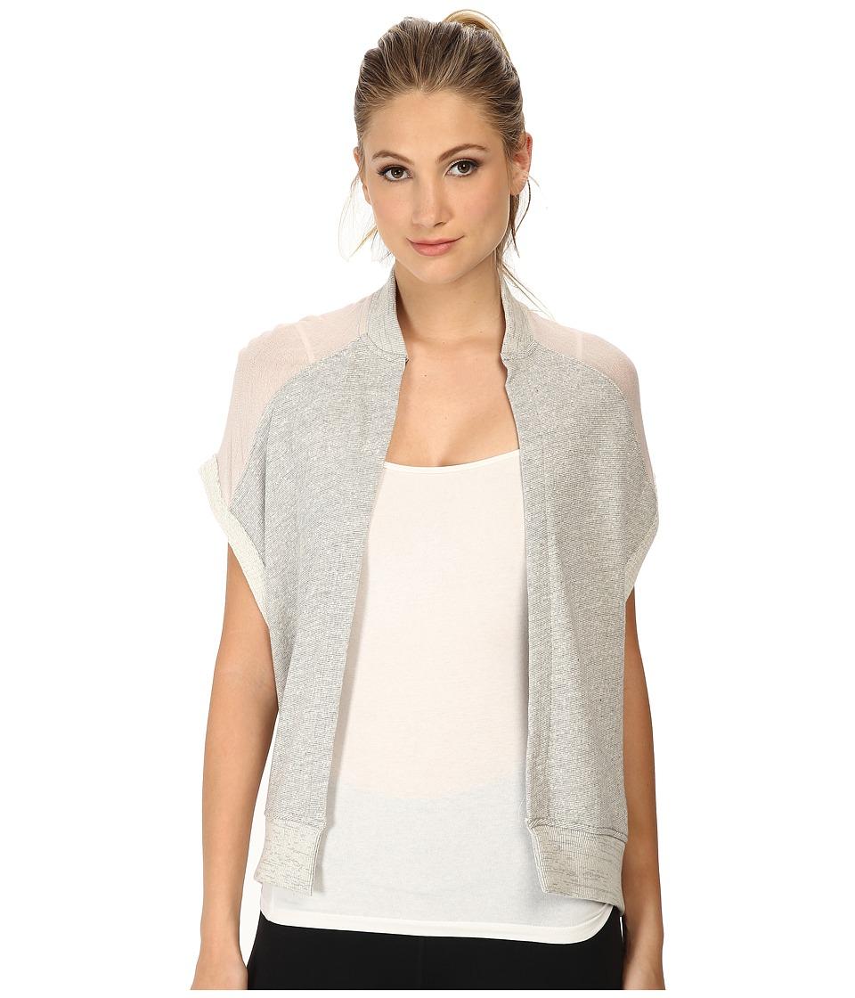 Image of Alternative - Organic Light French Terry/Crepe Wrap (Heather Grey) Women's Sweater