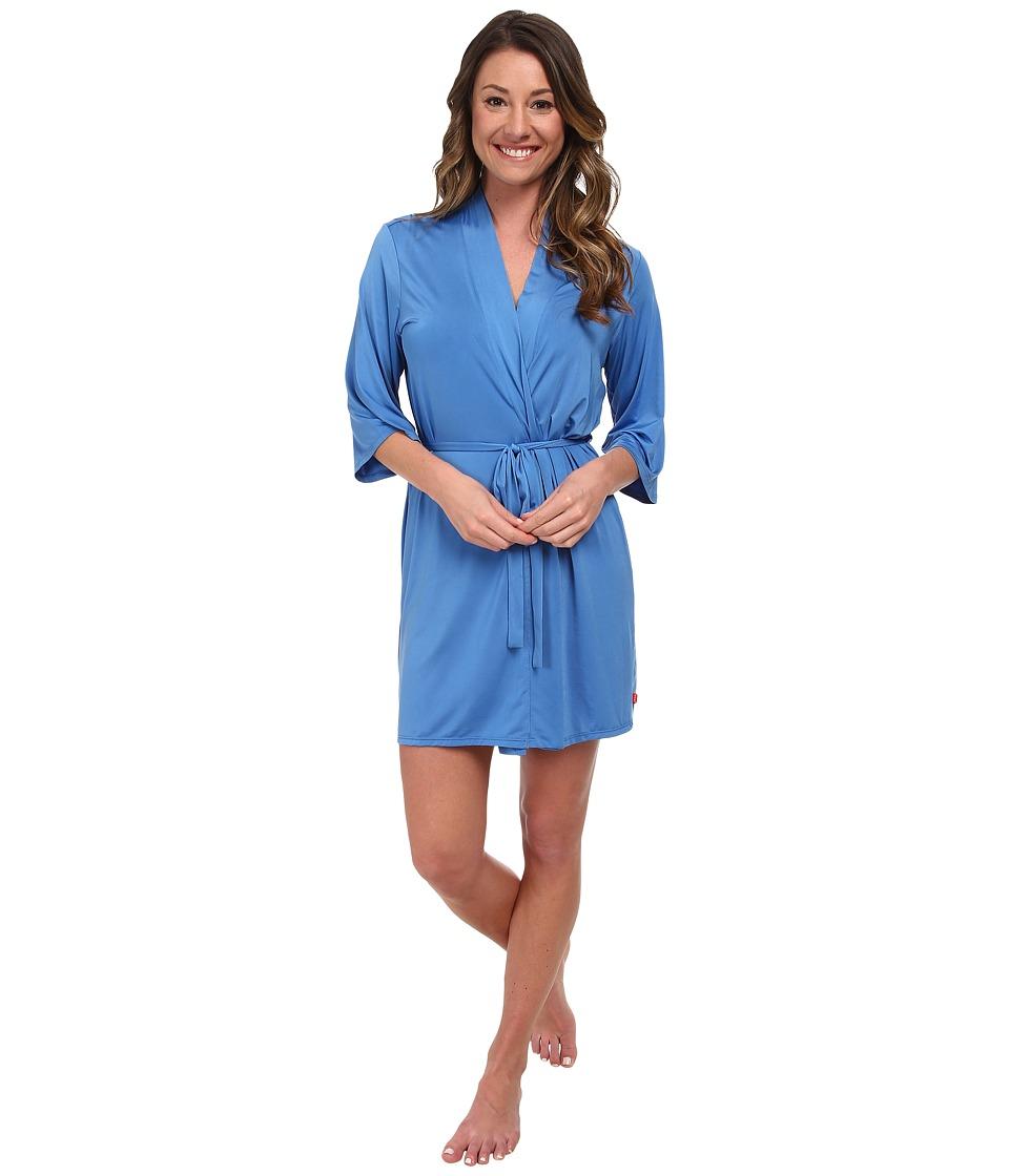 Josie - Slinky Basics Wrap (Saphire) Women's Pajama