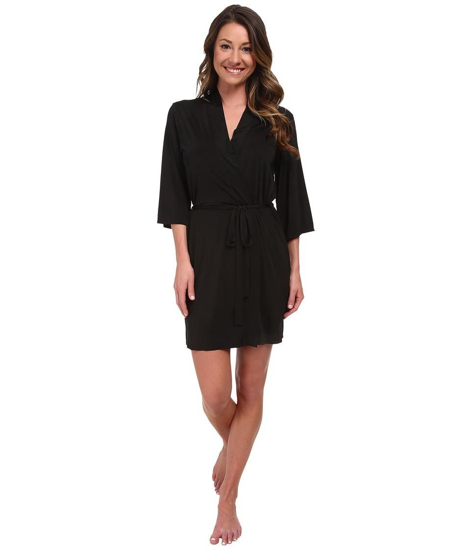 Josie - Slinky Basics Wrap (Black) Women's Pajama