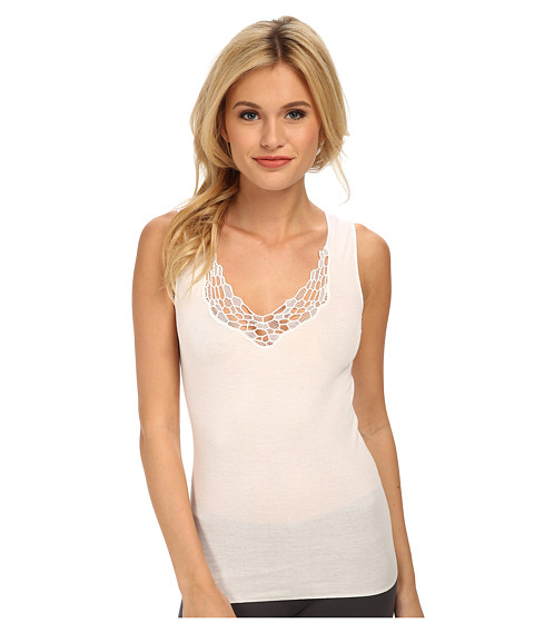 Hanro - Roma Tank Top (White) Women's Underwear
