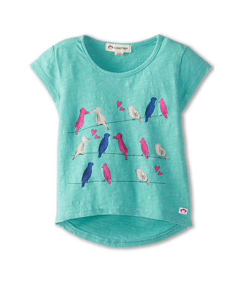 Appaman Kids - Circle Tee with Love Birds (Toddler/Little Kids/Big Kids) (Jade) Girl