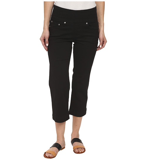 Jag Jeans Petite - Petite Caley Pull-On Crop Classic Fit in Black (Black) Women's Casual Pants