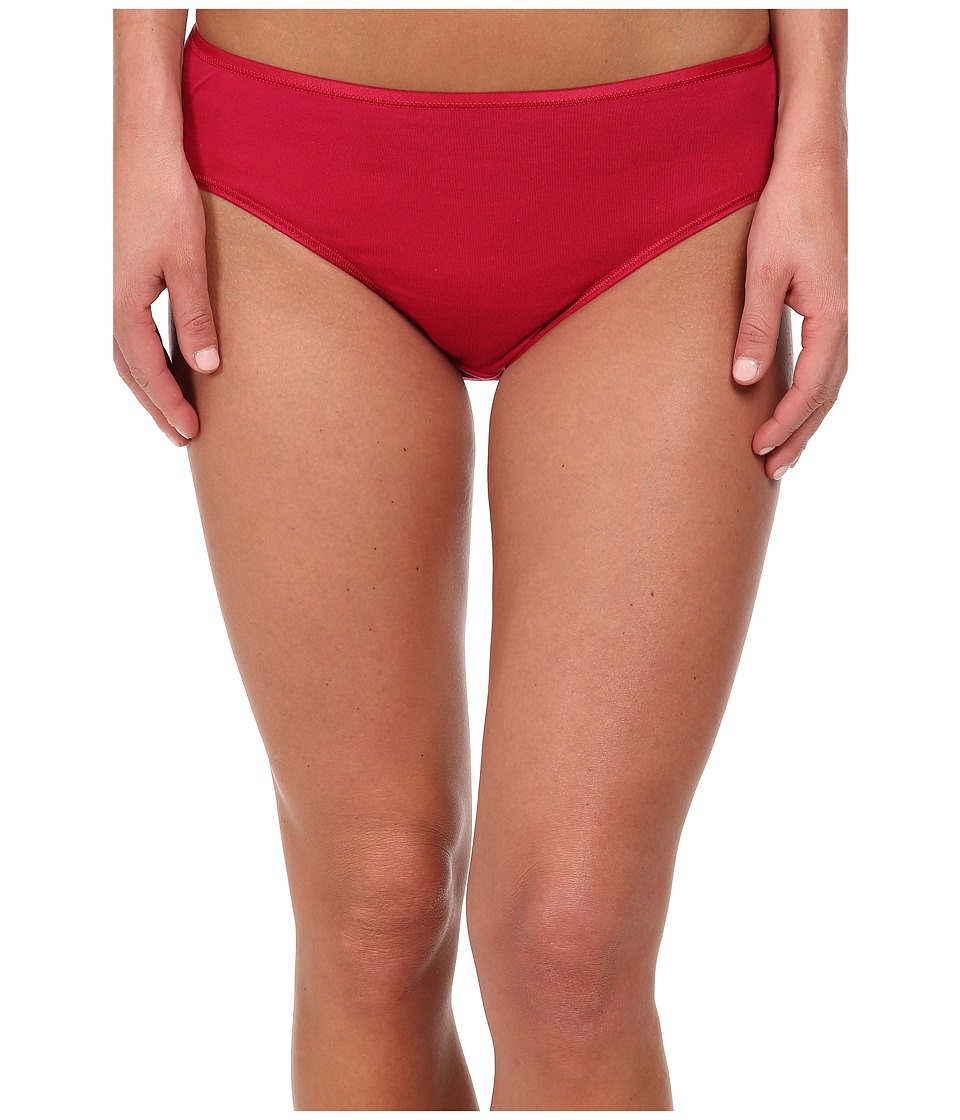 Hanro - Cotton Seamless Hi-Cut Full Brief 1626 (Cranberry) Women